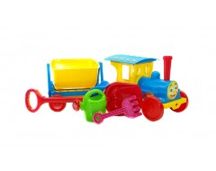 """""""TRAIN-CONSTRUCTOR"""" WITH SAND PACK 013222/01 BLUE"""